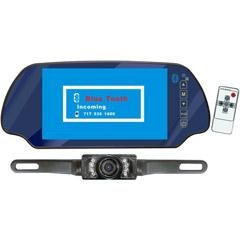 PYLE PLCM7300BT 7-Inch TFT Mirror Monitor with Rear-View Night Vision Camera Built-In Bluetooth