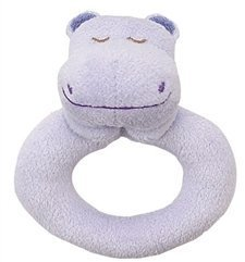 Angel Dear Ring Rattles Purple Hippo - 1