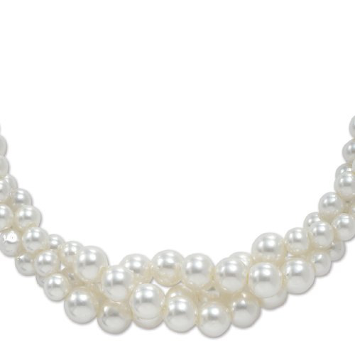 PalmBeach Jewelry Simulated Pearl Necklace 18