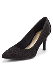 M&S Collection Pointed Toe Brocade Court Shoes with Insolia®
