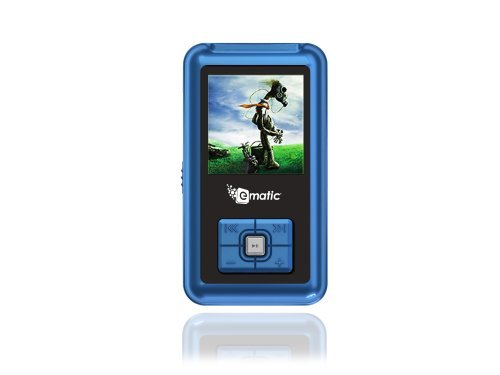 Ematic EM102 2 GB Video MP3 Player with FM Radio and Voice Recording (Blue)