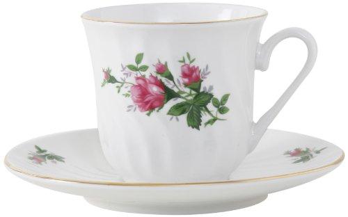 Ciera Vintage Rose Cup And Saucer, Set Of 6