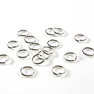 Anneaux de jonction pour la création de bijoux - Argenté / Lot de 200 / 4