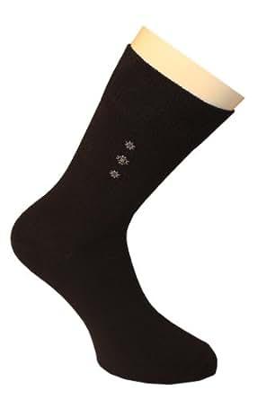 Weri Spezials Chaussettes pour Hommes. Couleur: Noir, Dessin: par ordinateur nr.5, Taille: 39-42