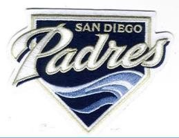 San Diego Padres Wave MLB Team Logo Patch by Hall of Fame Memorabilia