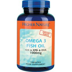 Higher Nature Omega 3 Fish Oils 180 capsules