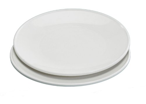 Nordic Ware Microwave Everyday Dinner Plates, Set Of 4, White, 10 Inch