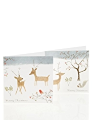 20 Winter Animal Charity Christmas Cards