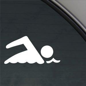 swimming-swimmer-decal-car-truck-window-sticker