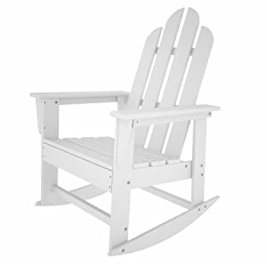 Long Island Outdoor Rocker - White White 41h X 2650w X 30d by Poly-Wood