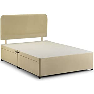 Stone faux suede king size 5ft divan bed base 4 drawers for King size divan bed with drawers
