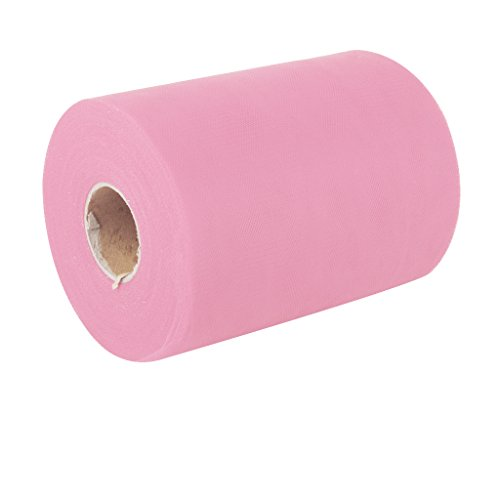 6-100-Yards-Rollo-de-Tul-Papel-Decoracin-Regalo-para-Boda-Rosado