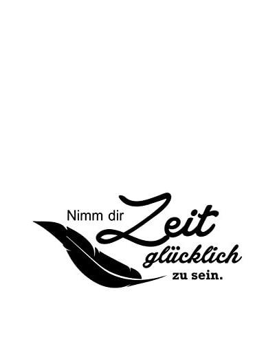 Ambiance-sticker Vinile Decorativo German Quote Nimm Dir Zeit Glücklich Zu Sein