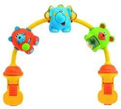 Chicco- 20Cm Dancing Animals Musical Stroller Toy front-809061