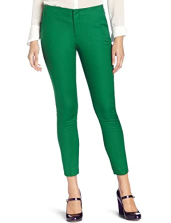 Vince Camuto Women's Angle Pocket Skinny Pant, Rich Green, 2