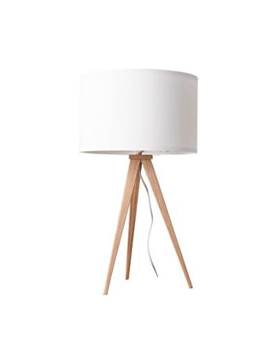 Lampada Da Tavolo Tripod Table Legno Bianco