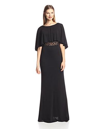 A.B.S. by Allen Schwartz Women's Blouson Gown with Lace