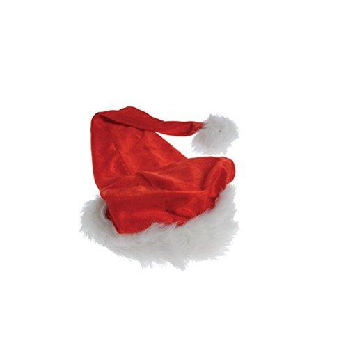 [Adult Size Red & White Plush Christmas Santa Extra Long Stocking Cap Hat] (A Christmas Carol Costume Design)