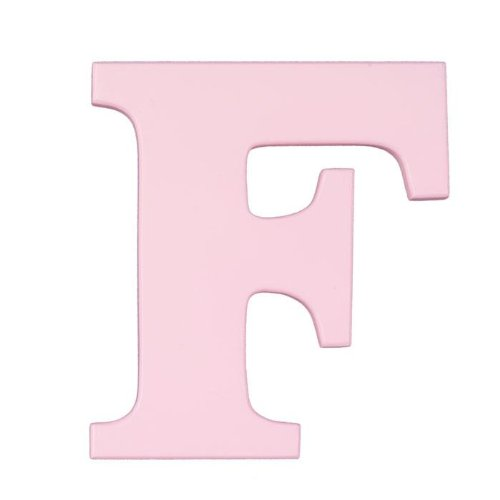 "Wooden Letter ""F"" Hanging Initials Color: Pink"