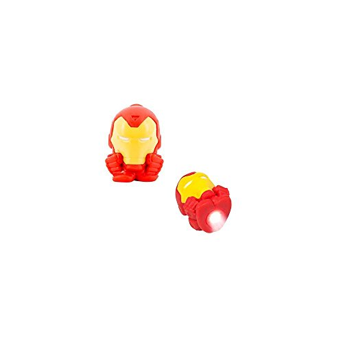 Marvel Avengers Iron Man Mash-Em with LED Light Squishy miniature Micro Lite Action Figure (Single Pack) - 1