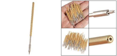 100 Pcs P100-M3 Test Probe Metal Golden Yellow Detector Instrument To Detect The Needle Pogo Pin
