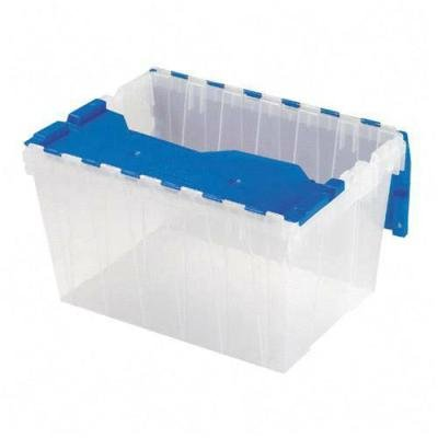 Akro-Mils 66486 CLDBL 12-Gallon Plastic Storage KeepBox with Attached Lid, 21-1/2-Inch by 15-Inch by 12-1/2-Inch, Semi Clear from Akro-Mils