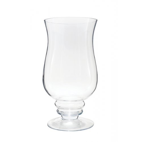Flower Glass Vase Decorative Centerpiece For Home or Wedding by Royal Imports - Hurricane Shape, 12