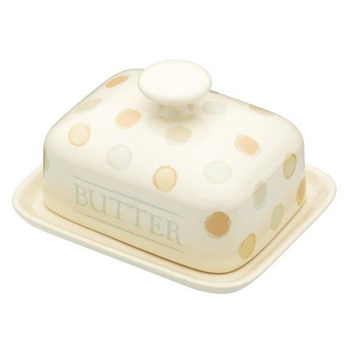 KitchenCraft-Classic-Collection-Butterschale-mit-Deckel-Keramik-18-x-14-x-10-cm