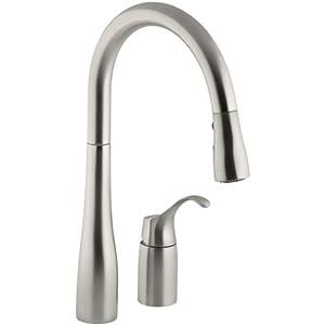 Kohler K 647 Vs Simplice Pull Down Kitchen Sink Faucet Vibrant Stainless Touch On Kitchen