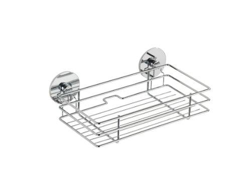 wenko 5637100 turbo loc korb befestigen ohne bohren verchromtes metall 24 2 x 8 2 x 14 cm. Black Bedroom Furniture Sets. Home Design Ideas