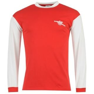 Score Draw Arsenal 1971 Home Long Sleeve Shirt Red/White Large