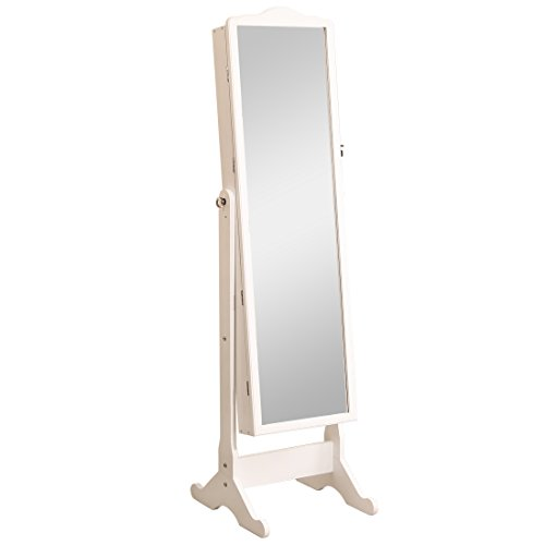 beyonda-dbt-yj02-w-white-mirrored-jewelry-cabinet-armoire-white-floor-standing-oval-jewelry-cabinetw