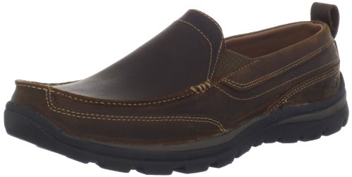 Skechers Men's Superior Gains Slip-On,Dark Brown,10 M US