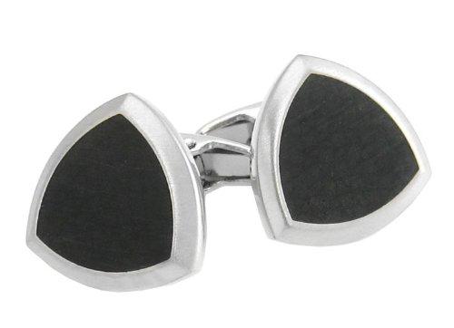 Matte Black Cufflinks With Design