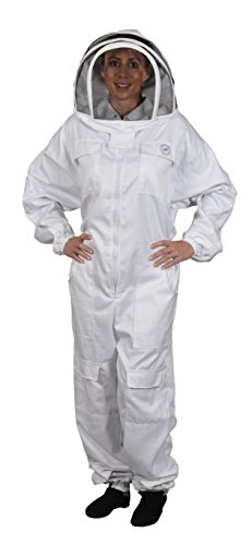 humble bee 411 m polycotton beekeeping suit with fencing