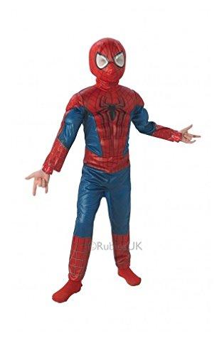 Rubie'S Marvel Costume da bambino The Amazing Spider-Man 2 Deluxe in EVA 3D, Taglia 7/8 anni