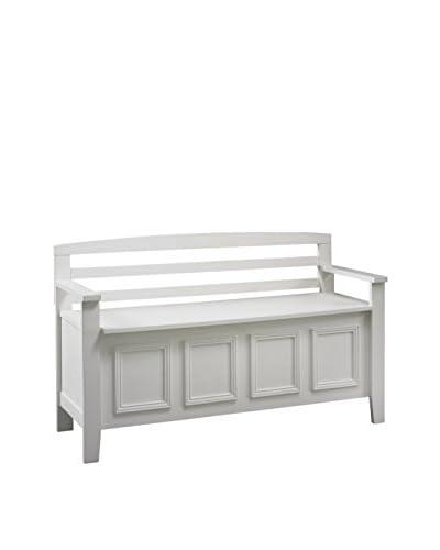 Linon Home Décor Laredo Storage Bench, White