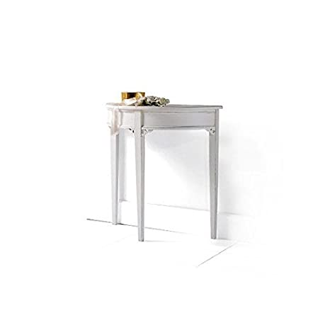 consollelaccata White Table Wood Input Table Veneto–As Photos White and Ivory