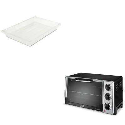 Kitdloro2058Rcp3306Cle - Value Kit - Rubbermaid-Clear Food Boxes; 5 Gallon 5 Gallon (Rcp3306Cle) And Delonghi Convection Oven W/Rotisserie (Dloro2058)