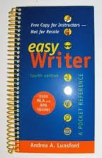 EasyWriter 4e with 2009 MLA and 2010 APA Updates & Top Twenty Quick Reference Card
