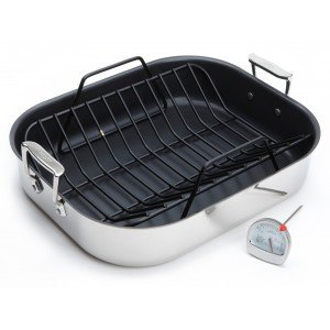 Roasting Pan - 13 × 16 - Non-stick - with Rack