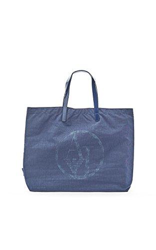 ARMANI JEANS NYLON SHOPPING BAG C522XU4-50 BLU - BLUE