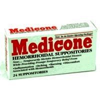 Rectal Medicone Hemorrhoidal Suppositories - 24 Ea
