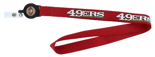 NFL San Francisco 49ers Badge Reel Lanyard at Amazon.com