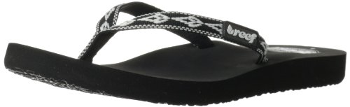 Reef Women'S Ginger 30 Years Flip Flop,Black/White,9 M Us front-39068