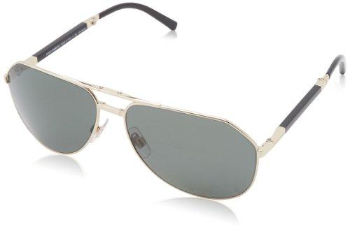 D&G Dolce & Gabbana Men'S 0Dg2106K Aviator Polarized Sunglasses,Pale Gold Plated,61 Mm