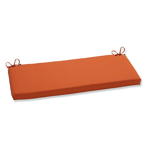 Pillow Perfect Indoor/Outdoor Cinnabar Bench Cushion, Burnt Orange (Orange Outdoor Cushions compare prices)
