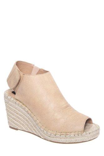 Starryy Jute Wrapped High Wedge Peep Toe Slingback Sandal