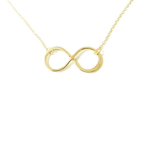 apop nyc Gold Vermeil Infinity Necklace 16 inch - 17 inch - 1 inch Charm