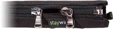 Cache câble Staywired® avec DOUBLE fermeture éclair, longueur 150 cm, noir, cache fil design qui peut contenir jusqu'à 10 câbles